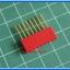 1x Red Color Female Pin Header 8 Pins Pitch 2.54mm (Long Pin) thumbnail 2
