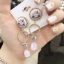 ต่างหู Flower Diamond Ring Korea ER3121 thumbnail 5