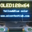 "1x จอโอแอลอีดี สีเหลืองน้ำเงิน OLED LCD 128x64 0.96"" เชื่อมต่อแบบ I2C thumbnail 3"