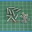 10x Flat Screws M3* 15mm + 10x M3 Nuts (สกรูหัวแบนขนาด 3มม ยาว 15มม+น็อตตัวเมีย ) thumbnail 2