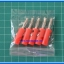 5x Male Banana Plug 4mm Connector Red Color thumbnail 2