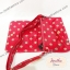 กระเป๋าสะพาย Chalita wu สีแดงชมพู ลายจุด thumbnail 3