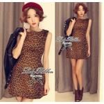 Lady Leona, Leopard Print Mini Dress