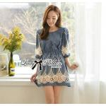 Lady Ribbon's Made Lady Christine Sweet Chic Denim Mini Dress