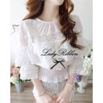 LRT428-655-445 Babe Doll White Lace Blouse