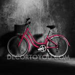 ภาพจักรยานสีแดง Canvas 40x40 cm.