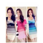 Gradient Muliti Colour Dress