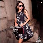 Lady Black Blossom Mini Dress