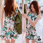 Lady Lily, Floral Print Mini dress, Partysu Korea
