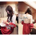 Lady Karina Chic and Stylish Two Tone Blouse