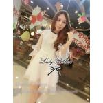 Lady Pure White Organza Mini Dress