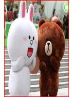 ชุดมาสคอตกระต่ายบราวน์ / หมีโคนี่