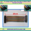 1x Jumper (F2F) cable wire 40pcs 2.54mm 20cm Female to Female