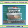 12x Metal PCB Pillars 30 mm with 24x M3 Nuts (เสารองแผ่นพีซีบีโลหะแบบเหลี่ยมพร้อมน็อตยึด)