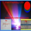 5x RGB Fast Flashing Rainbow LED Super Bright 5mm + 5x Resistor 220 Ohm 1/4W 1%