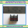 1x Terminal Block Connector 2 Pins Pitch 7.62 mm Barrier Type 300V/15A