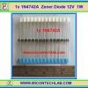 1x 1N4742A Zener Diode 12V 1.0W 1N4742 ซีเนอร์ไดโอด