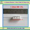 1x Cement Resistor 1 Ohm 5 Watt 5% Royal ohm