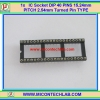 1x IC Socket Round Turned Pin Type Socket DIP 40 PINS 15.24mm/0.6 inch PITCH 2.54mm