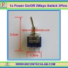 1x Power On/Off SPDT Switch 3 Ways 3 Pins