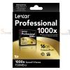 Memory CF Lexar Professional 16GB 1000X
