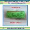 100x Resistor 500 Ohm 1/8 Watt 1% Metal film Resistor (100pcs per lot)