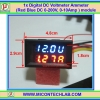 1x Digital DC 0-200V 10A Voltmeter Ammeter Red Blue module