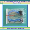 1x Jumper (M2M) cable 20 cm 10pcs Blue color (Male to Male)