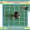 1x Female Black Color 4 mm Banana Jack Connector