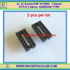 2x IC Socket DIP 16 PINS 7.62mm PITCH 2.54mm NARROW TYPE