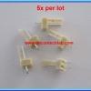 5x WAFER CONNECTOR 2 PINS STRAIGHT PIN 2.54mm (5 pcs per lot)