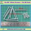 10x M3* 40mm Screws + 10x M3 Nuts (สกรูหัวกลม+น็อตตัวเมีย ขนาด 3มม ยาว 40มม)