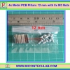 4x Metal PCB Pillars 12 mm with 8x M3 Nuts (เสารองแผ่นพีซีบีโลหะแบบเหลี่ยมพร้อมน็อตยึด)