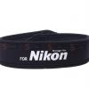 สายคล้องกล้อง Nikon White on Black Neck Strap Neoprene