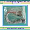 1x Jumper (F2M) cable 20 cm 10pcs Gray color (Female to Male)