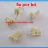 5x WAFER CONNECTOR 3 PINS RIGHT ANGLE PIN 2.54mm (5 pcs per lot)