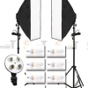 4 Holder (พร้อมหลอด) Light Set Promotion1 Day light Lamp E27 Bulb With Softbox