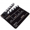 (Q002) Whiteboard Movie Film Slate ( Black )