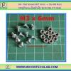 10x Flat Screws M3* 6mm + 10x M3 Nuts (สกรูหัวแบนขนาด 3มม ยาว 6มม+น็อตตัวเมีย )