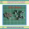 10x Flat Screws M3* 8mm + 10x M3 Nuts (สกรูหัวแบนขนาด 3มม ยาว 8มม+น็อตตัวเมีย )