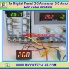 1x Digital Panel DC Ammeter 0-5 Amp Red color module