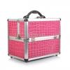 Professional Aluminium Makeup Cosmetic Box Vanity Case สีชมพู