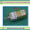1x DC Gear Box Motor 12V 10 rpm Dia 37mm Shaft Dia 6mm