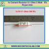 1x Cement Resistor 0.1 Ohm 3 Watt 5% Royal ohm