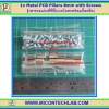 12x Metal PCB Pillars 8 mm with 24x M3 Nuts (เสารองแผ่นพีซีบีโลหะแบบเหลี่ยมพร้อมน็อตยึด)