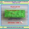 10x Resistor 220 KOhm 1/4 Watt 1% Resistor (10pcs per lot)