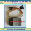 1x Red Matrix 8x8 LED with MAX7219 IC Driver Module