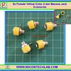 5x Female Yellow Color 4 mm Banana Jack Connector