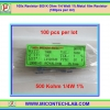 100x Resistor 500 K Ohm 1/4 Watt 1% Metal film Resistor (100pcs per lot)