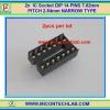 2x IC Socket DIP 14 PINS 7.62mm PITCH 2.54mm NARROW TYPE